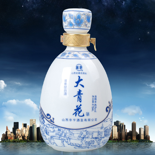青花瓷工艺酒瓶图片